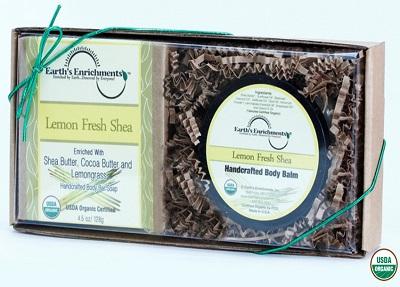 Lemon Fresh Shea Organic Bar Soap and Body Balm