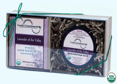 Lavender of the Valley Organic Bar Soap and Sugar Scrub