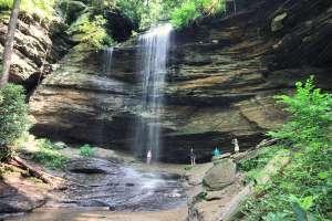 Moore Cove Falls in Pisgah