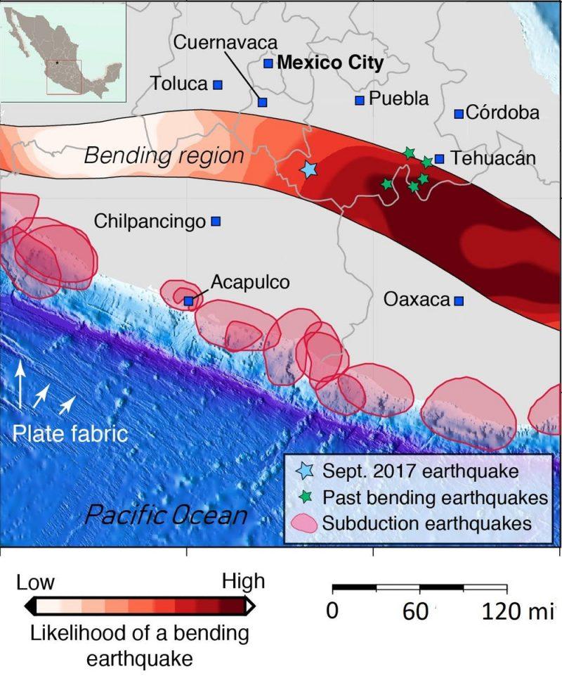 Mexico City Earthquake Map : mexico, earthquake, Mexico, Earthquake, 'bending', Quake, Earth, EarthSky