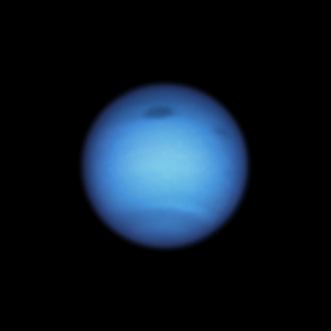 A dark storm on Neptune changes direction, flees from a deadly fate  The universe