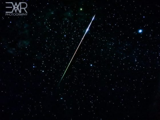 Meteor long, bright, colorful.