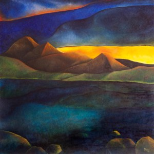 Sunset at Patricia Lake