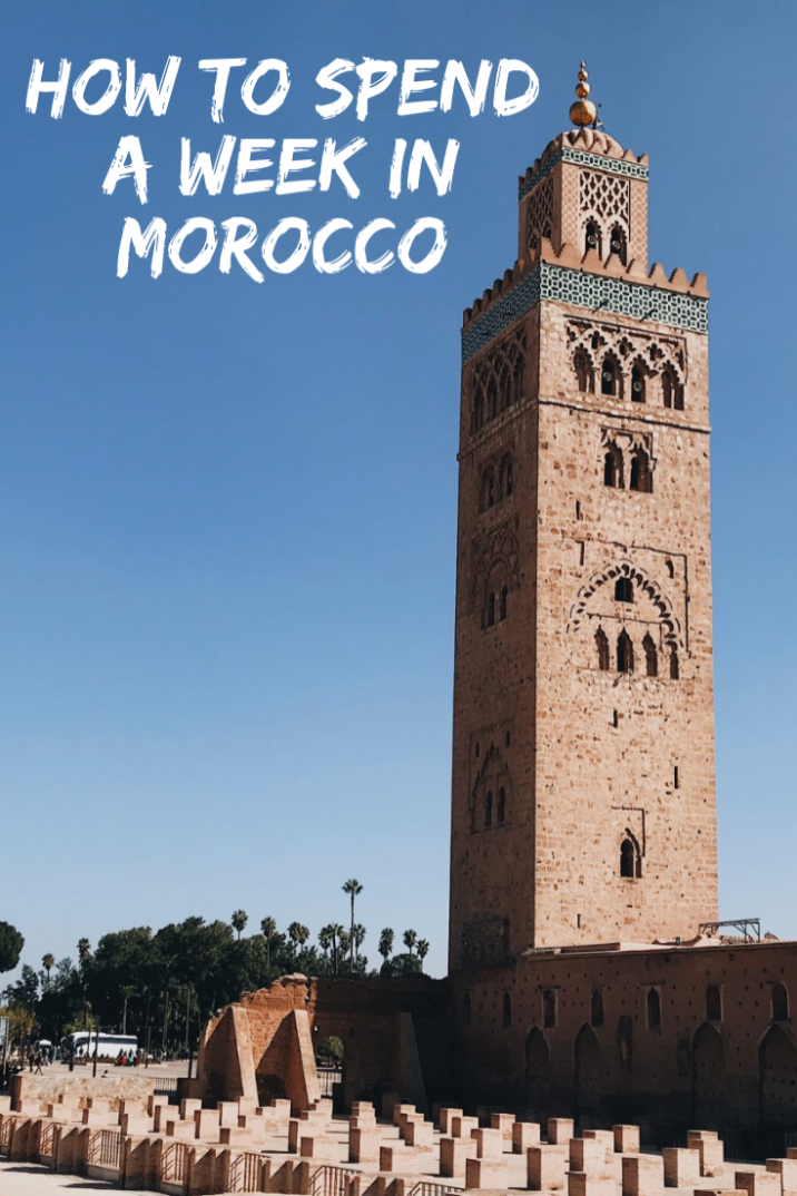 Morocco travel is a must! So here's a guide to visiting the countries famous cities in a week: from Marrakech to Essaouira and its beautiful beach. It also contains all the Morocco travel tips that you need to know so that you can enjoy the beautiful architecture and decor worry free! #Morocco #Travel #Marrakech