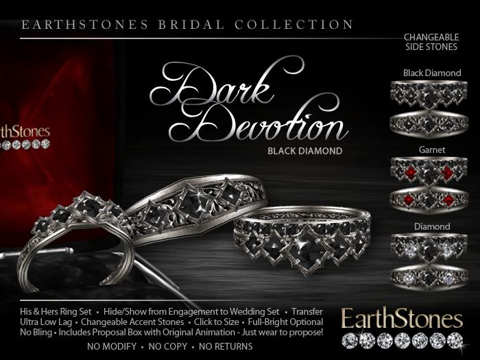 Devotion Amp Dark Devotion Wedding Rings EarthStones