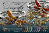 Dragonfly Bracelets & Rings Ambers
