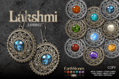 EarthStones Lakshmi Earrings