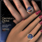 Gemstone Globe Ring HisHers Poster