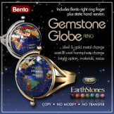 Gemstone Globe Ring