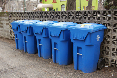 bins 400x267 Is recycling still worthwhile given the expense and emissions associated with it?