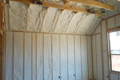 Choosing soy-based spray foam insulation is one way to minimize synthetic chemicals in your indoor environment. Credit: Demilec