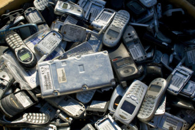 e waste phones 400x267 E Waste Nightmare: Cell Phones Getting Greener But Not There Yet