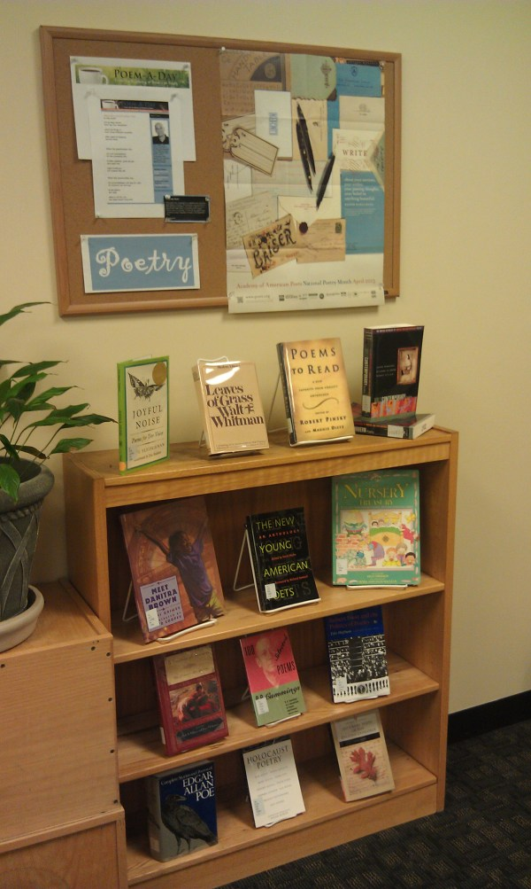 Poetry Month Library Displays