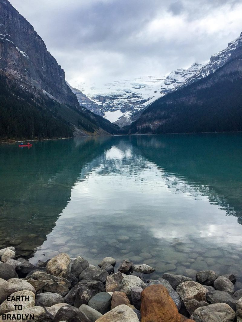 Lake Louise is gorgeous whether it is sunny, snowing, or storming! Must see in Canada!