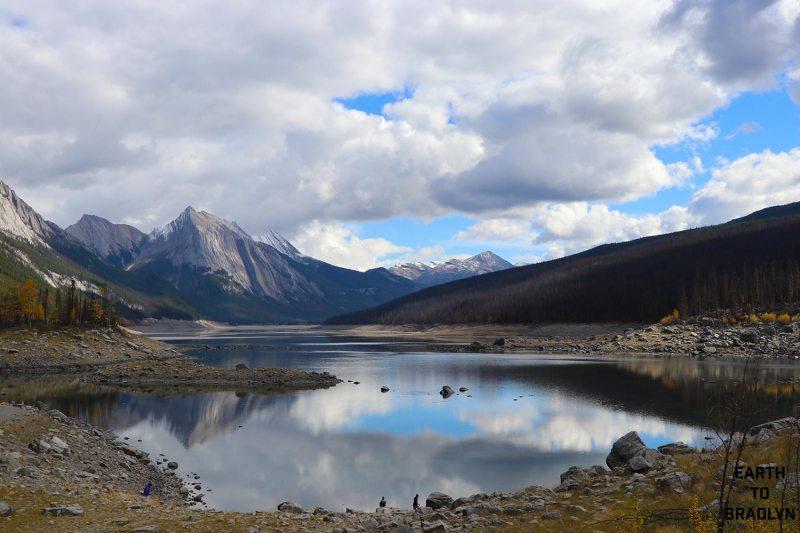 The stunningly beautiful Medicine Lake!