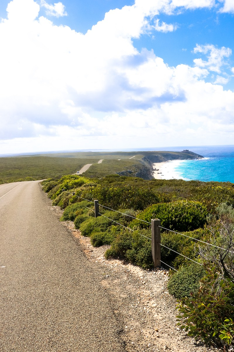 One of the roads on Kangaroo Island