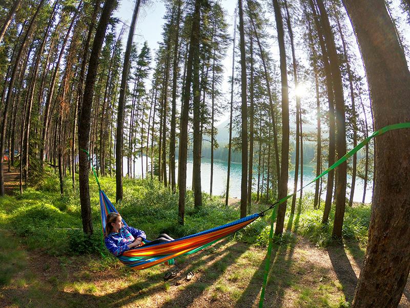 Camping at Two Jack Lakeside