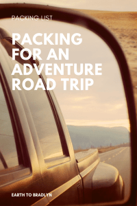 Packing for a road trip when you plan to hike, camp and adventure!