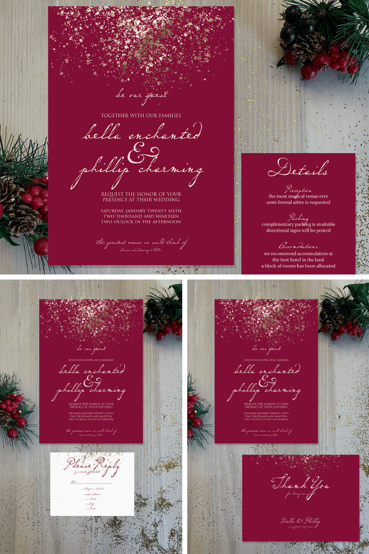 Be Our Guest Wedding Invitation - Perfect for Spring Wedding Invitation, Fairytale Wedding Invitation, Castle Wedding Invitation!