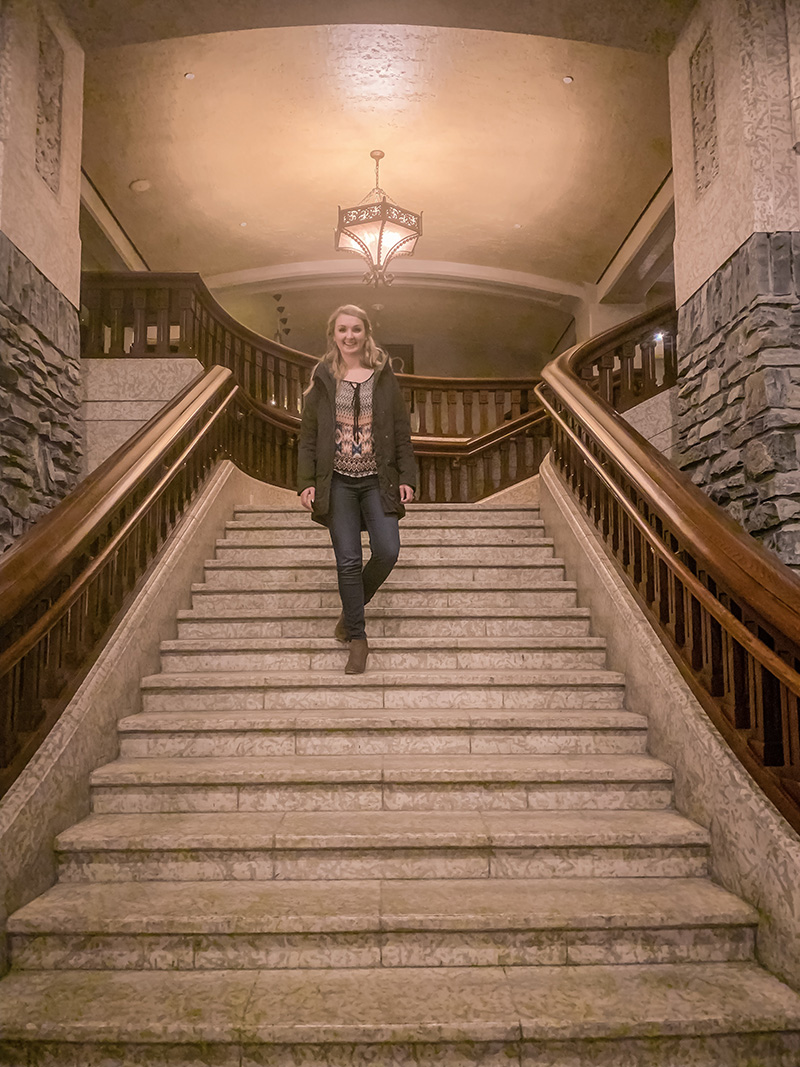 The Grand Staircase in the Banff Springs!