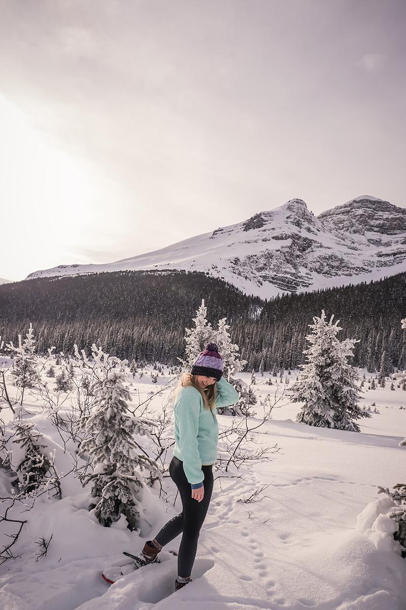 Snowshoeing in Banff!