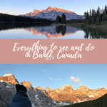lake moraine and two jack lake in Banff
