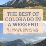Denver Rocky Mountain National Park and Boulder