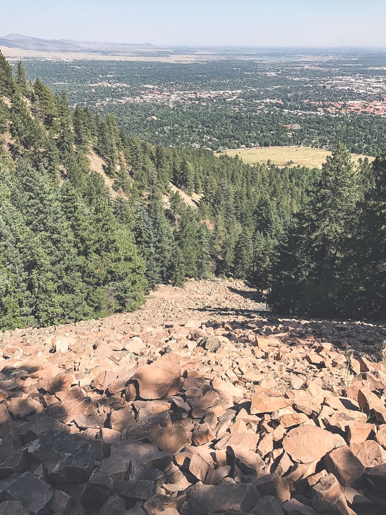 boulders on Flatiron trail