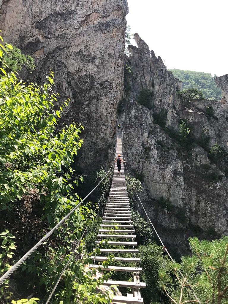 Nelson Rocks Suspension Bridge on Via Ferrata