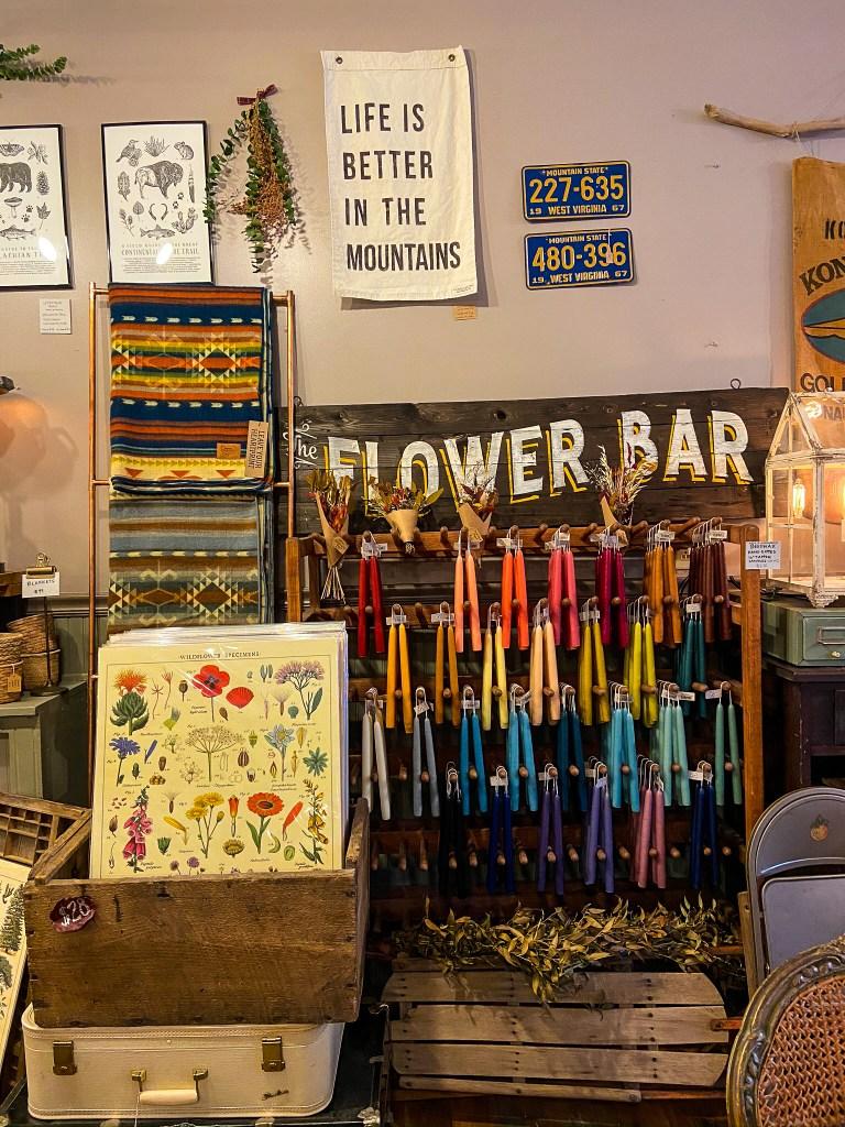 Flower Bar at Ella and Company Thomas West Virginia