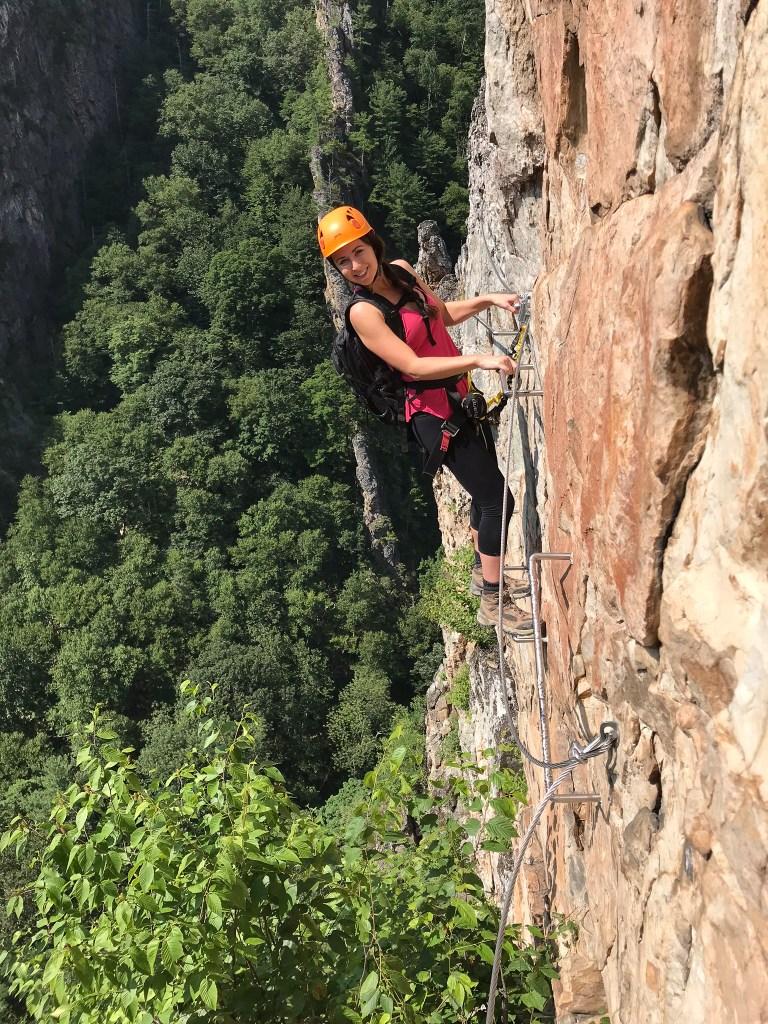 Nelson Rocks Via Ferrata Best Place to Visit in West Virginia