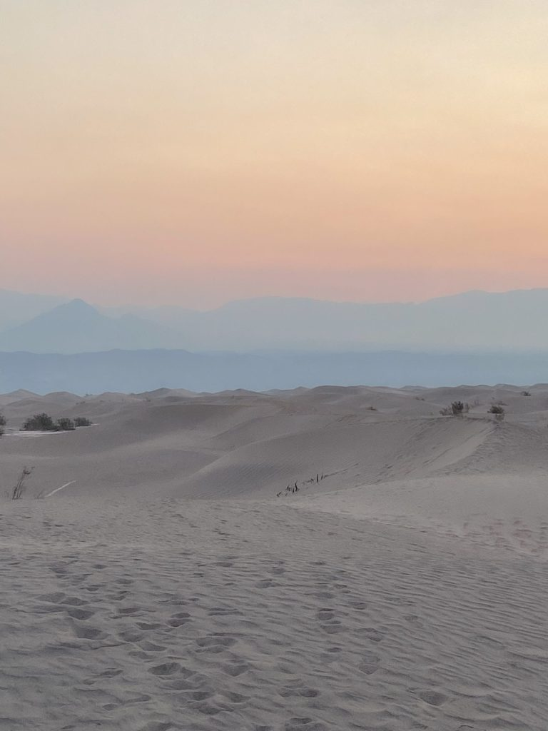 Mesquite Sand Dunes at Sunrise in Death Valley