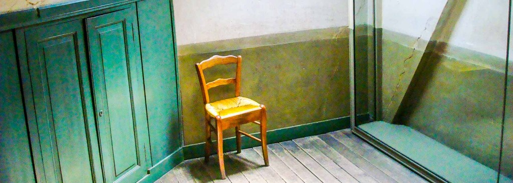 Picture of Van Gogh's room in Auvers-sur-Oise.