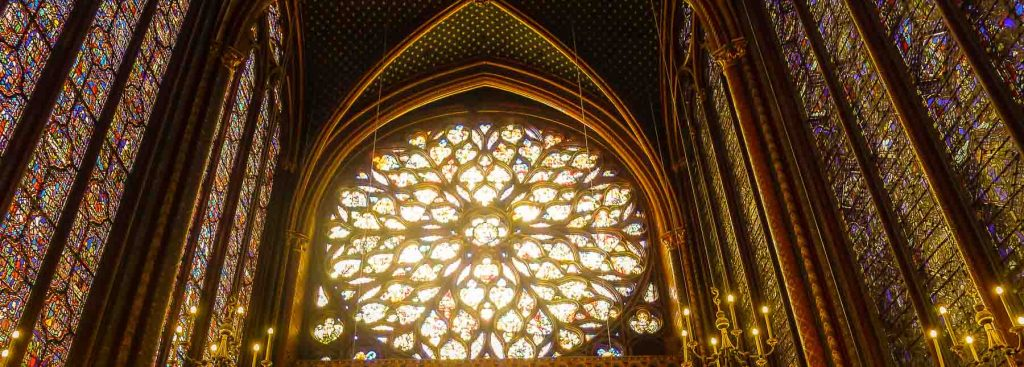 Picture of rose window.