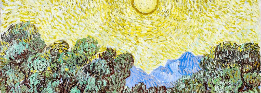 Picture of a section of a Van Gogh painting.