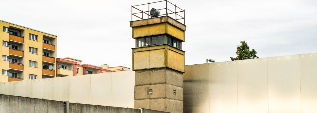 Picture of a Berlin Wall guard tower.