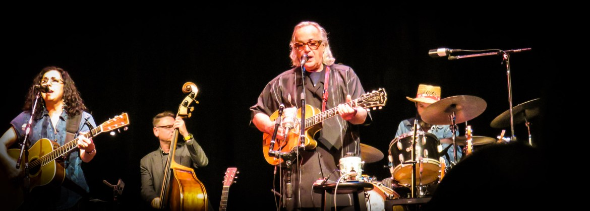 Picture of Ry Cooder on stage in Tampa.