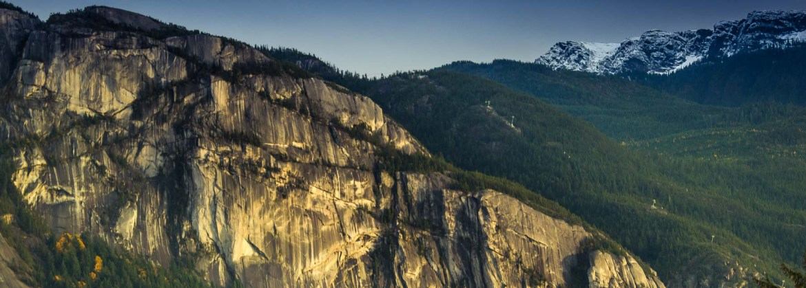 Picture of the Stawamus Chief in Squamish, popular with rock climbers and hikers.