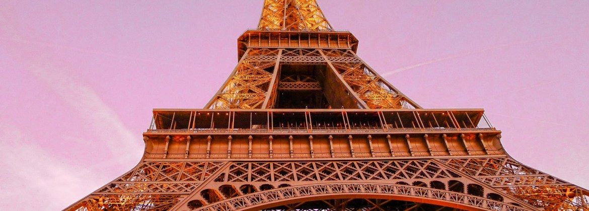 Picture of the ultimate travel cliché, the Eiffel Tower.