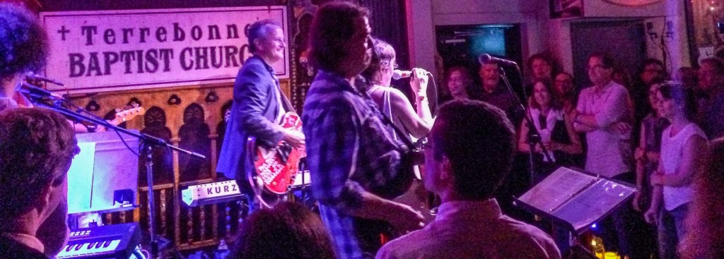 Picture of musicians on stage at Chickie Wah Wah club.