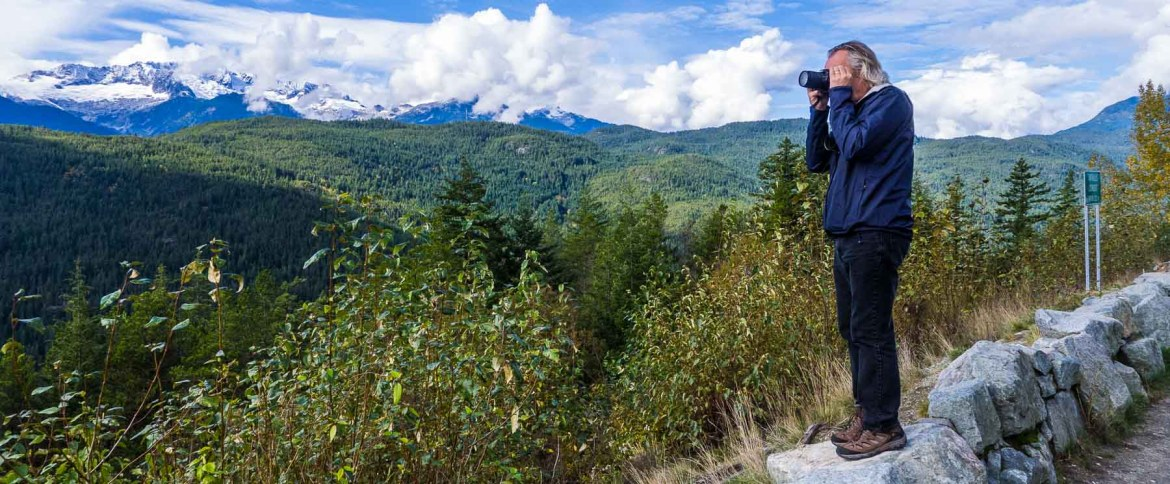 Andy photographing mountains in B.C.