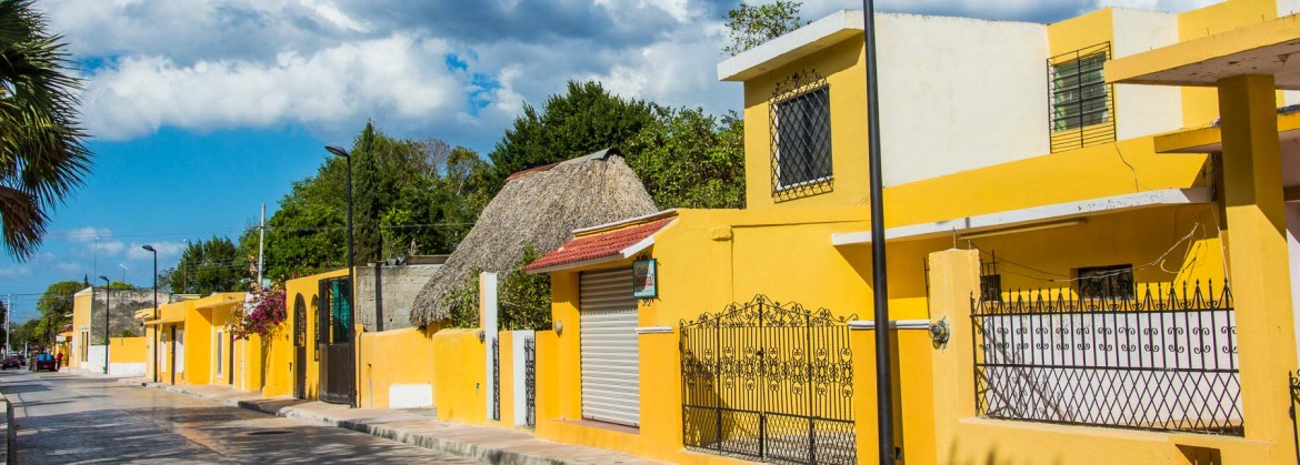A Mayan house in the Yellow City.