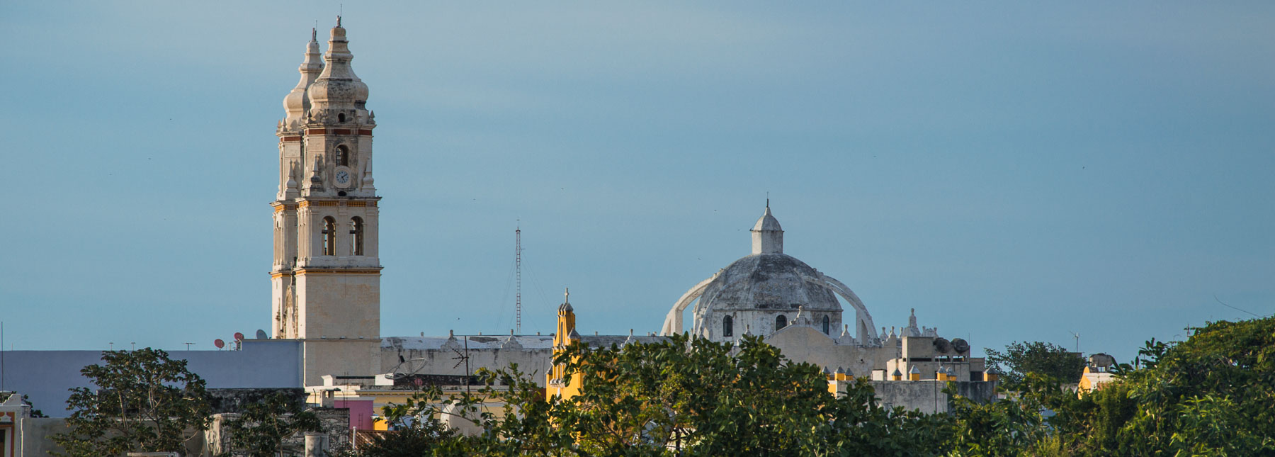 View of Campeche's cathedral from the walls.