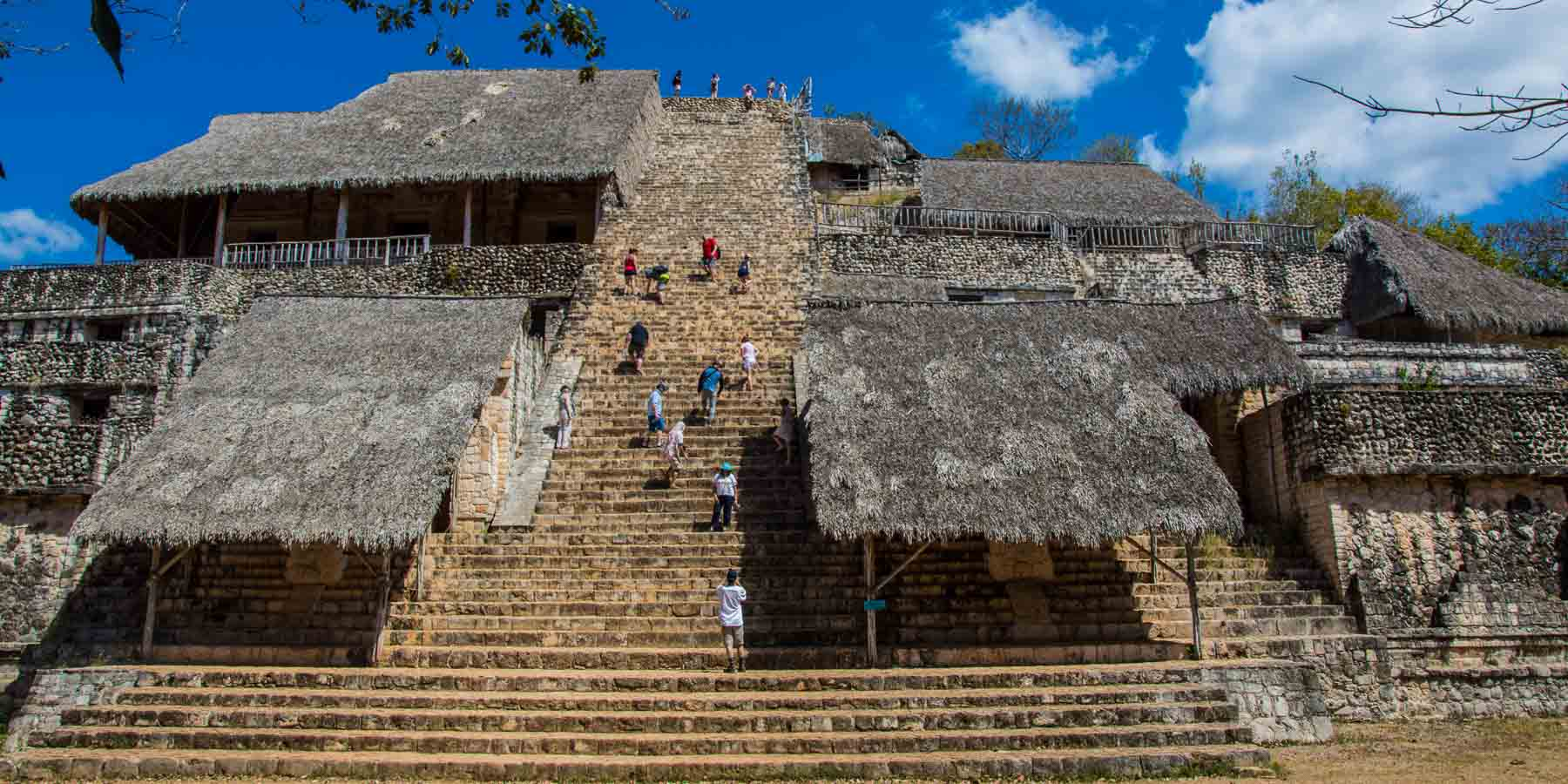 The stairs up the El Torre pyramid.