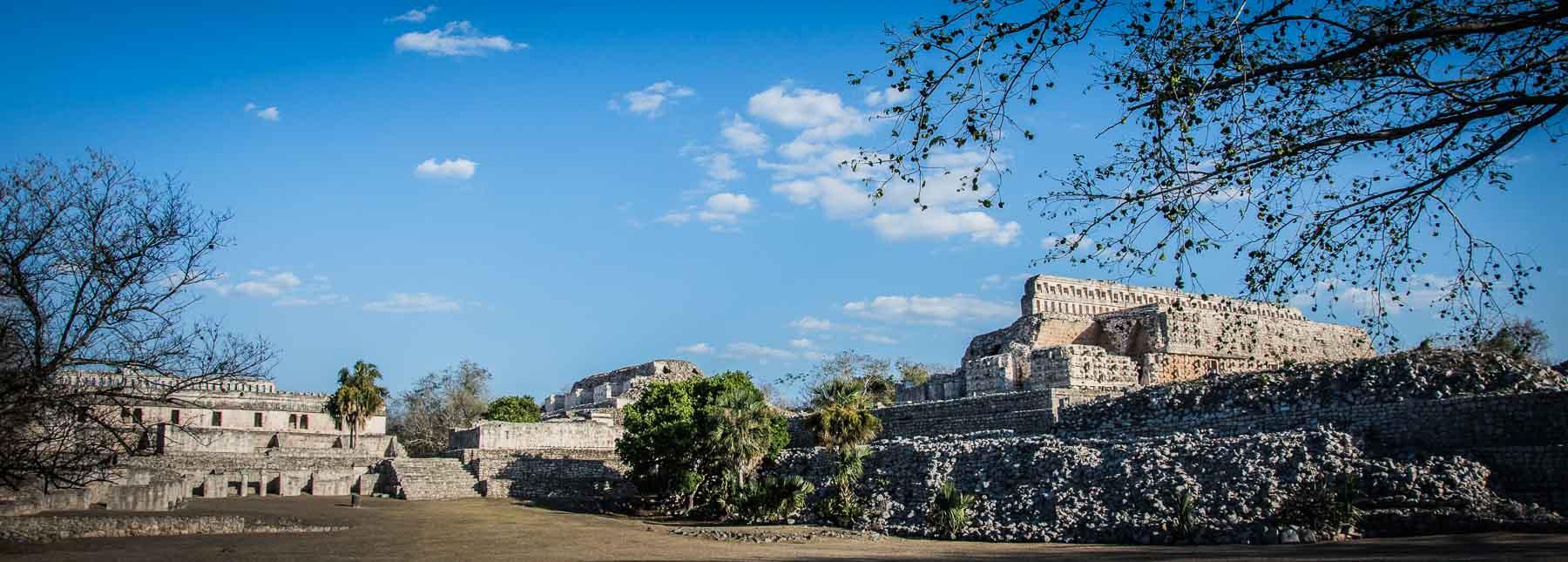 Picture of Mayan ruins at Kabah.