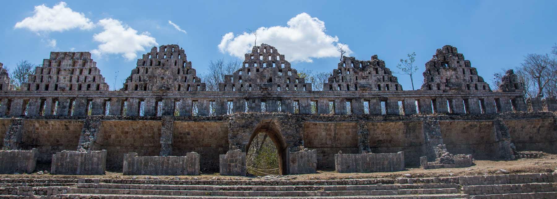 The Dovecote Mayan ruin at Uxmal.