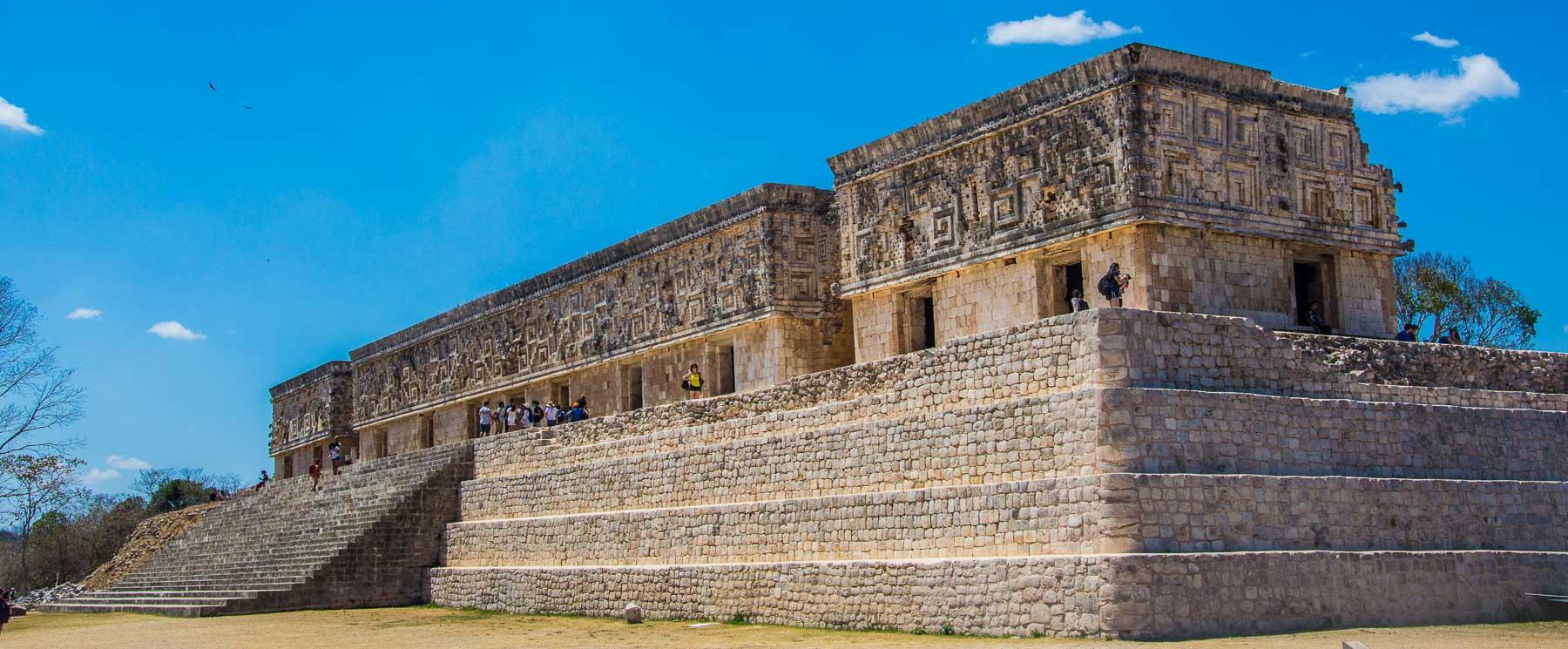 The Governor's Palace at the Uxmal Mayan ruin.