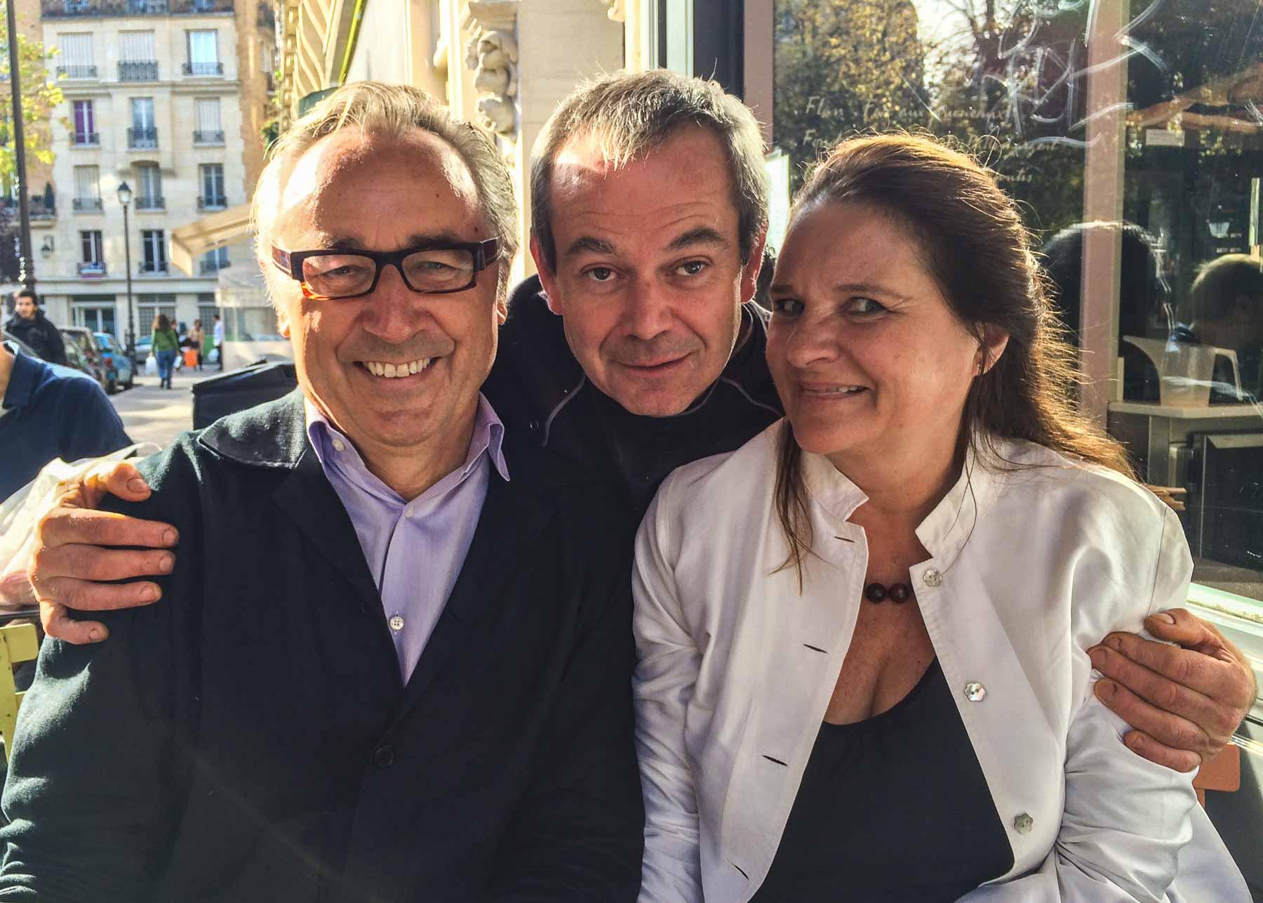 With Fabrice Le Bourdat at Blé Sucré.