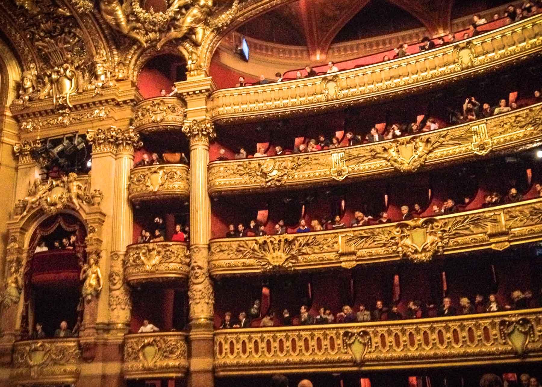 Inside the Paris Opera.