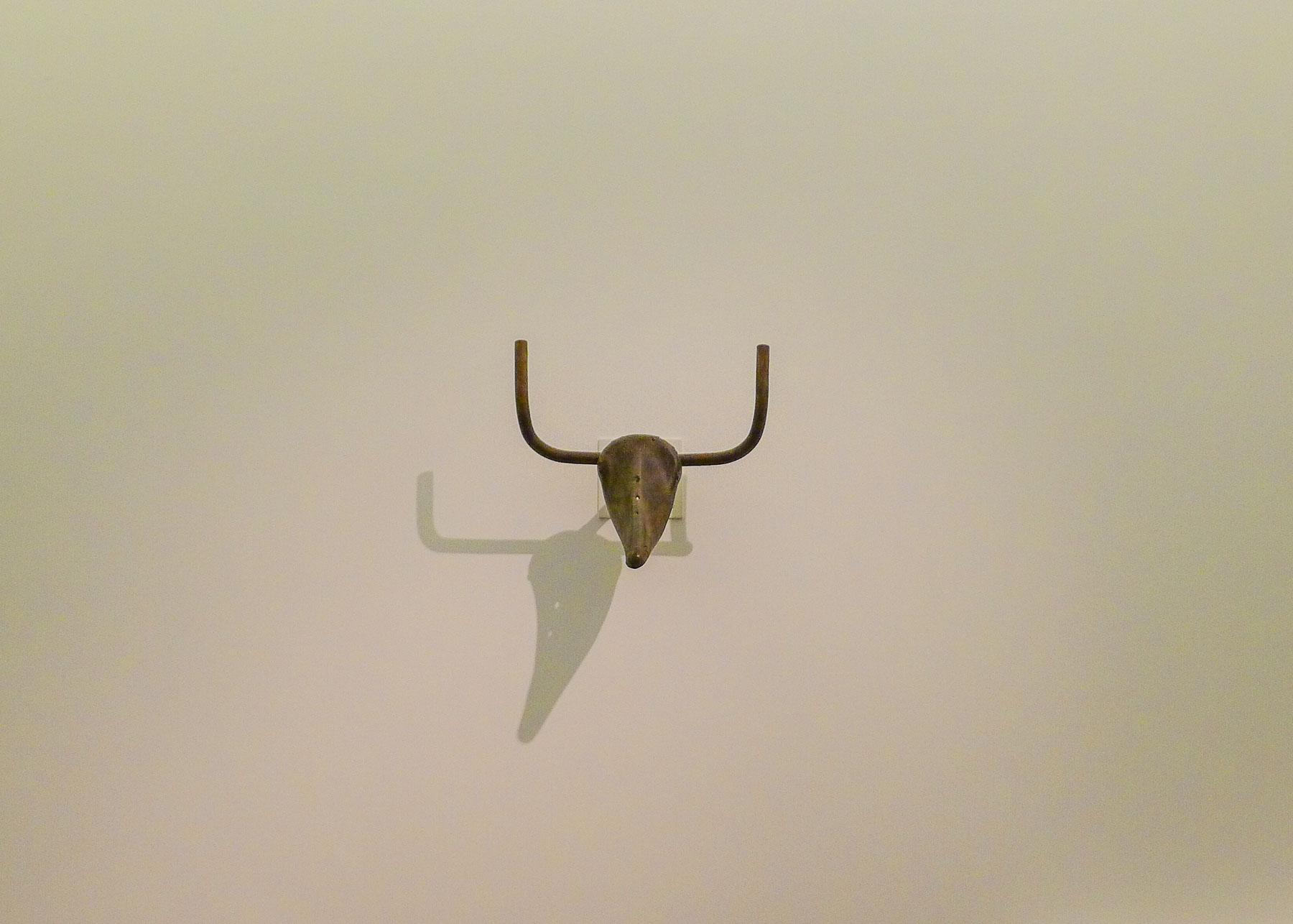 Picasso bull sculpture.